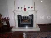 White Afyon Classic Fireplace