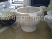 White Afyon Square Sink